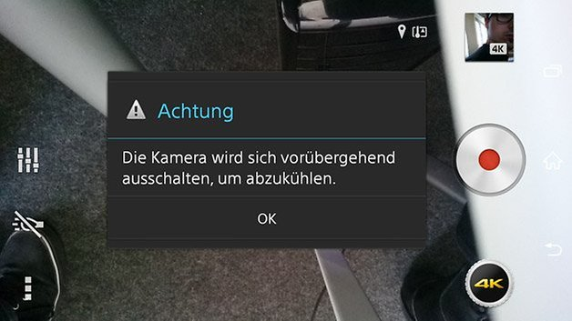 xperia z3 kamera 4k ausschalten