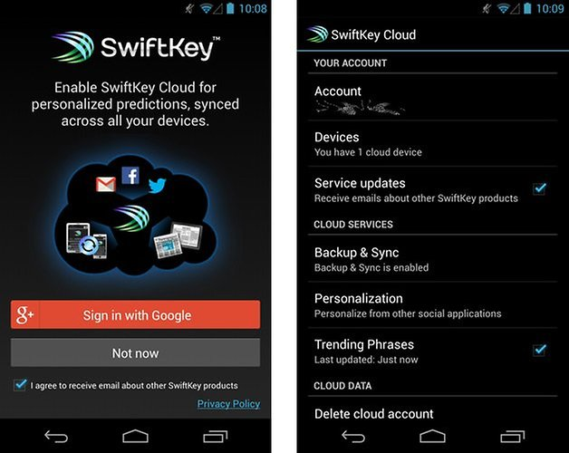 swiftkey cloud beta screenshots