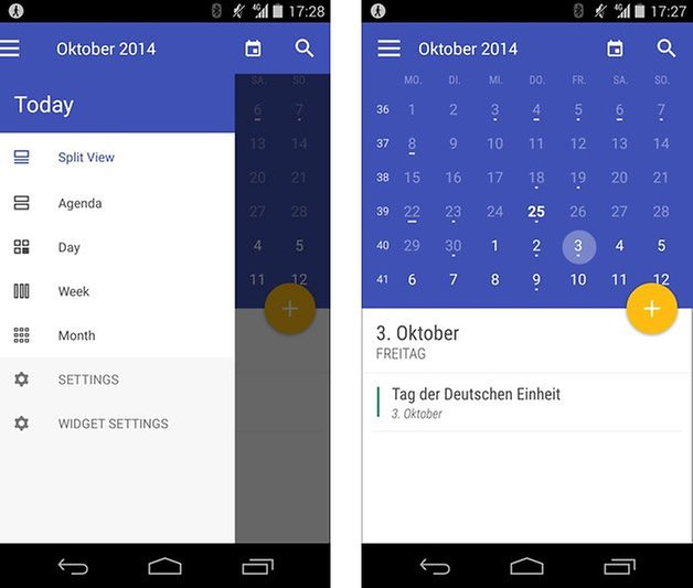 today calendar widget material design screenshot
