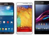Galaxy Round, Galaxy Note 3 und Xperia Z Ultra im Hardware-Vergleich