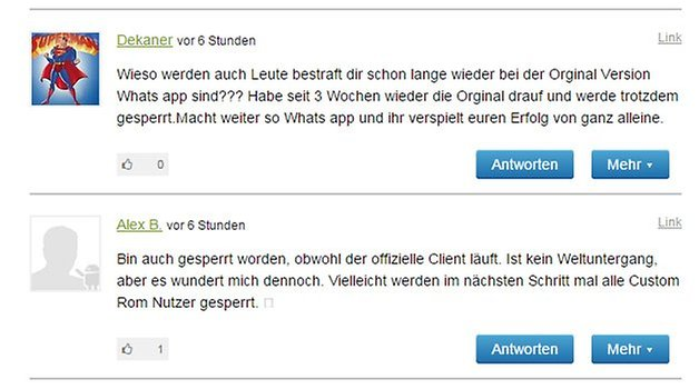 whatsapp plus sperre kommentare androidpit