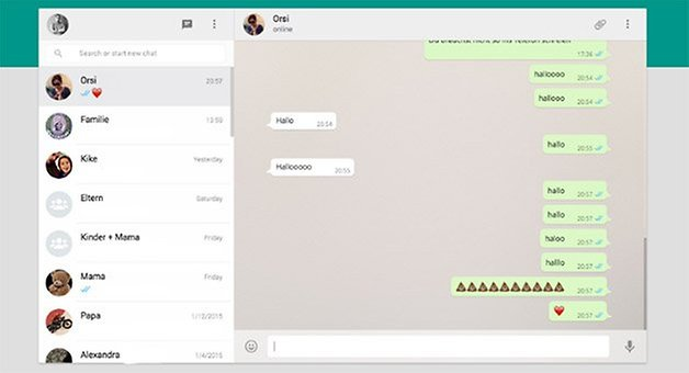 WhatsApp Web Interface Screenshot am PC