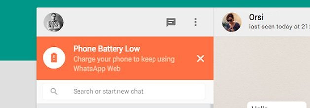 whatsapp web battery