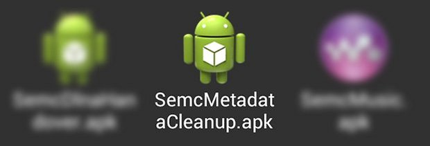 xperia apps metadatacleanup