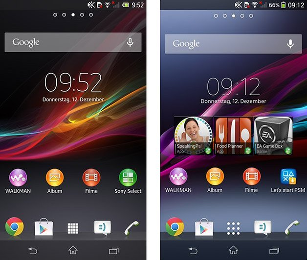 xperia z android 4 2 4 3 homescreen