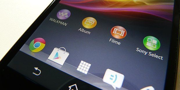 sony xperia z test display