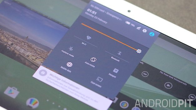 sony xperia z4 tablet setting