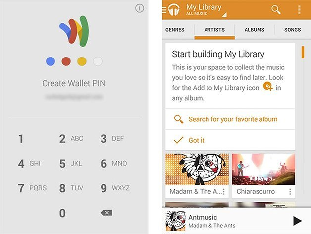 your branding google wallet music