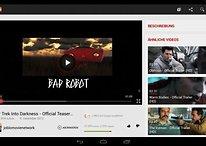 """Youtube : une mise à jour optimise l'affichage pour les tablettes 10"""""""