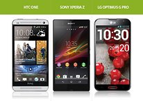 HTC One, Sony Xperia Z und LG Optimus G Pro im Vergleich