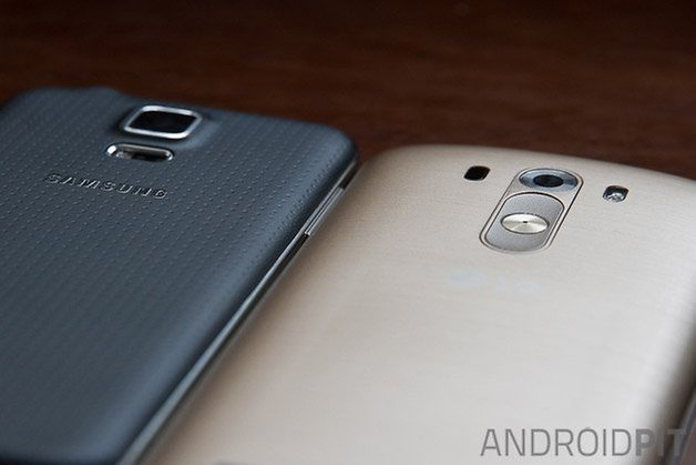 lg g3 hands on comparison galaxy s5 back detail