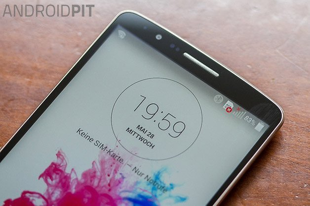 lg g3 hands on front display