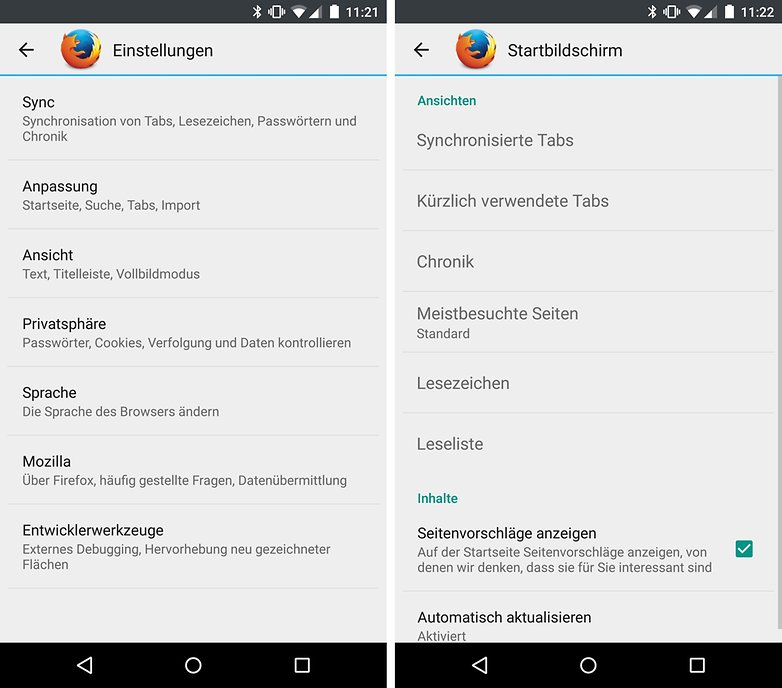 Schneller Android Browser
