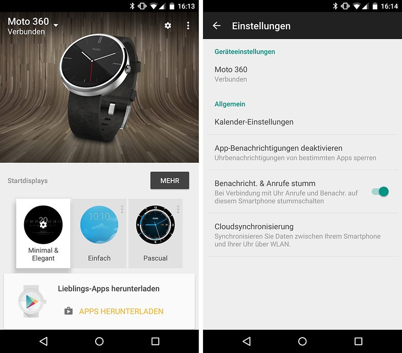 android wear einstellungen