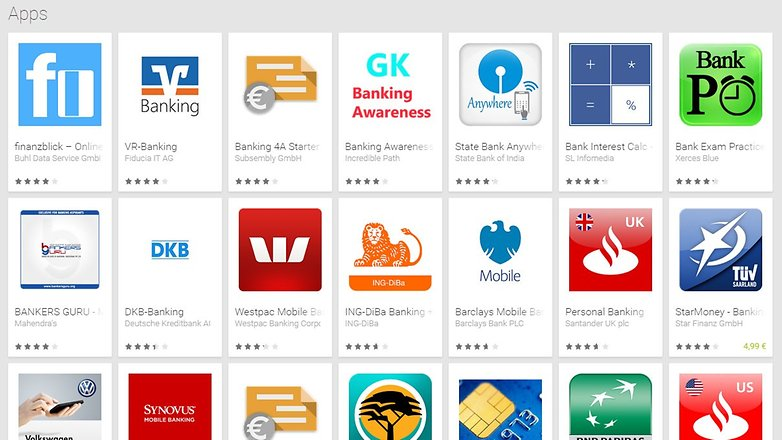 banking apps play store