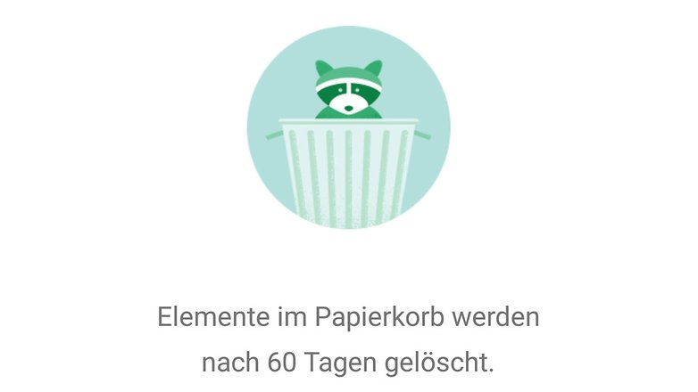 google photos papierkorb