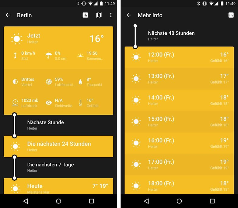 weather timeline android screenshot