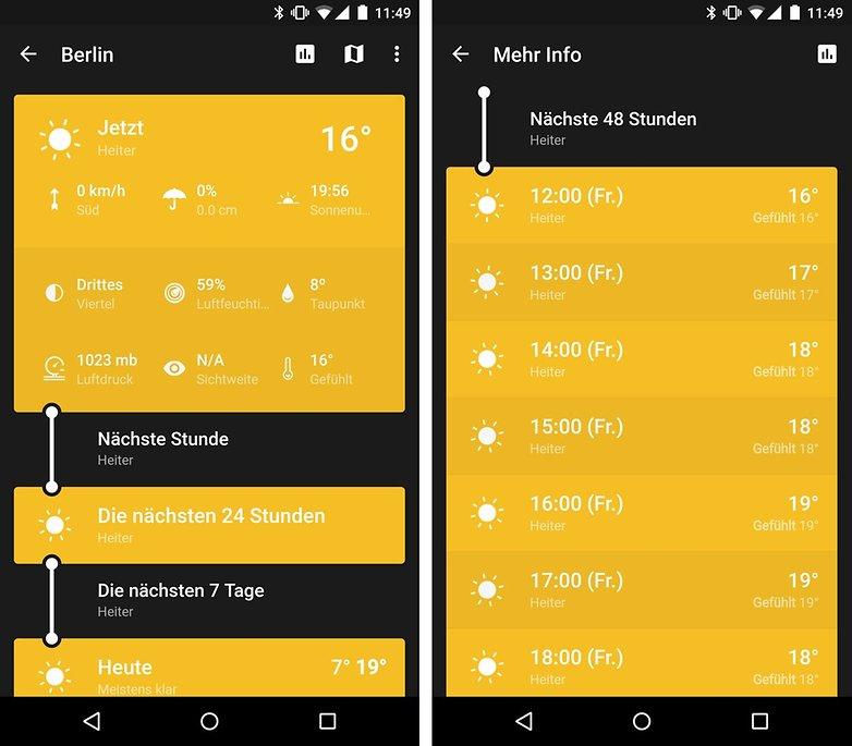 die 6 besten android apps f r den sommer androidpit. Black Bedroom Furniture Sets. Home Design Ideas