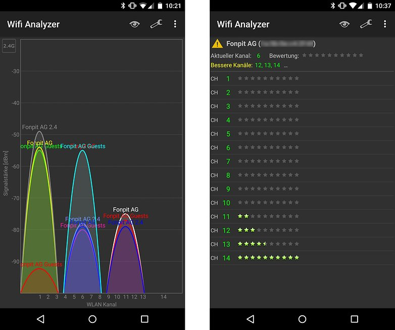 wifi analyzer wlan signal