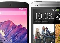 Nexus 5 vs. HTC One M7: Duell der Giganten von 2013