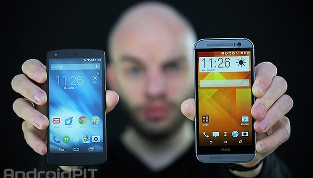 HTC One (M8) vs Nexus 5: the beauty and the beast?