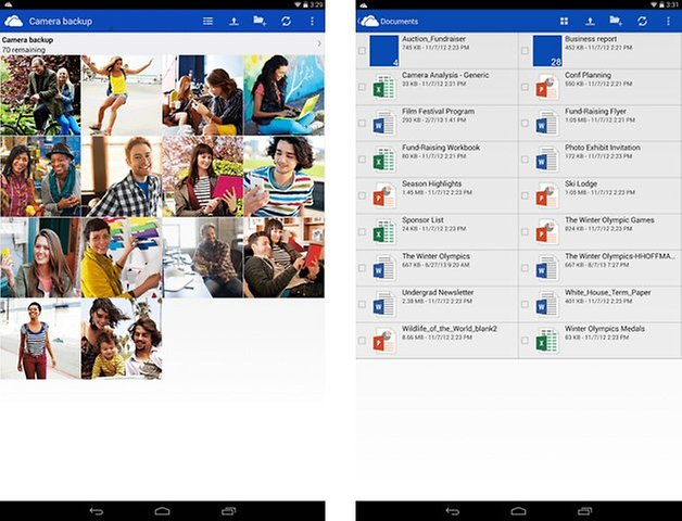 onedrive screenshot tablet
