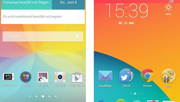 Optimus UI vs. Stock-Android: Vergleich der Herstelleraufsätze 2014