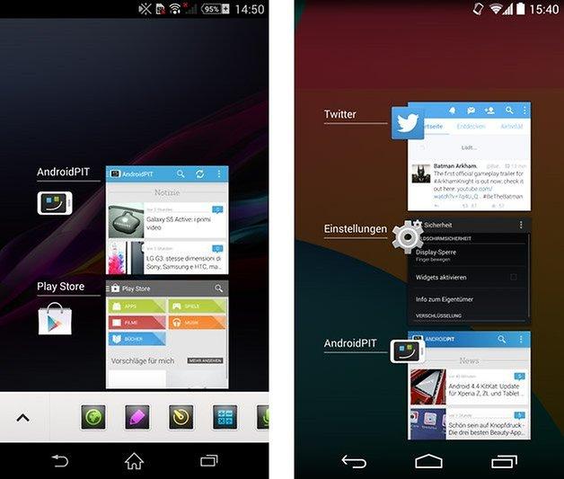 xperia ui nexus 5 stock recent apps