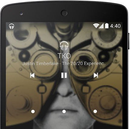 android 4 4 kitkat lockscreen music
