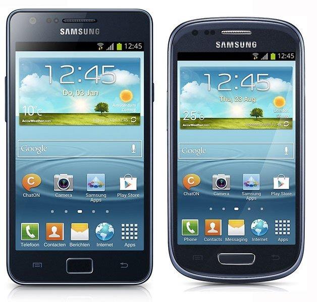galaxy s2 versus s3 mini