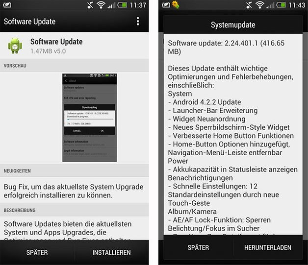 htc one update android 4 2 2