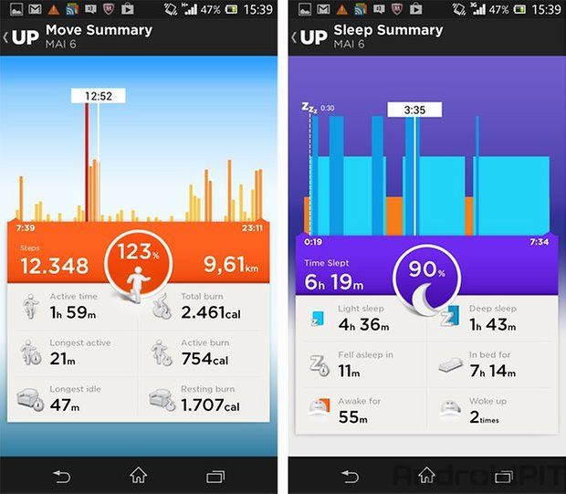 jawbone up test screens 2