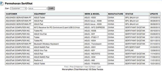 new nexus 7 liste indonesien