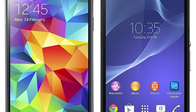 Samsung Galaxy S5 vs. Sony Xperia Z2 : bataille des nouveaux fleurons