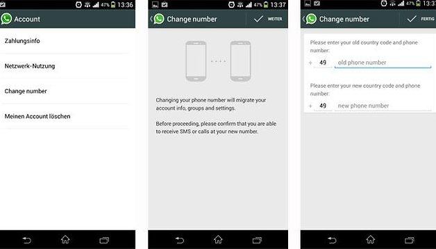 WhatsApp, da oggi si può cambiare numero