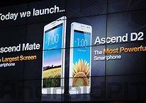 [Update] Ascend D2 und Mate: Huawei ist groß dabei