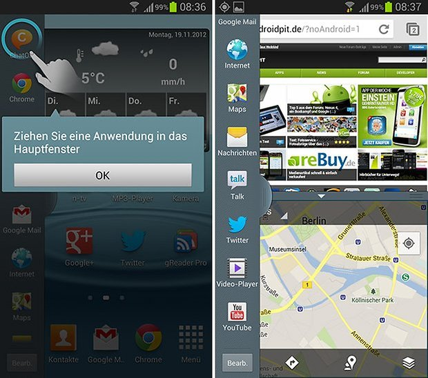 Android 4 1 2 pour le galaxy s3 test du multi fen tres for Multi fenetre android