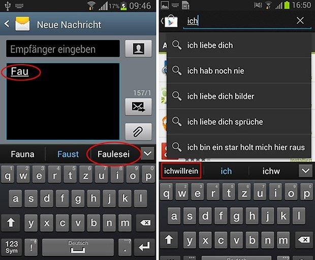 Samsung Passwort Autokorrektur neu