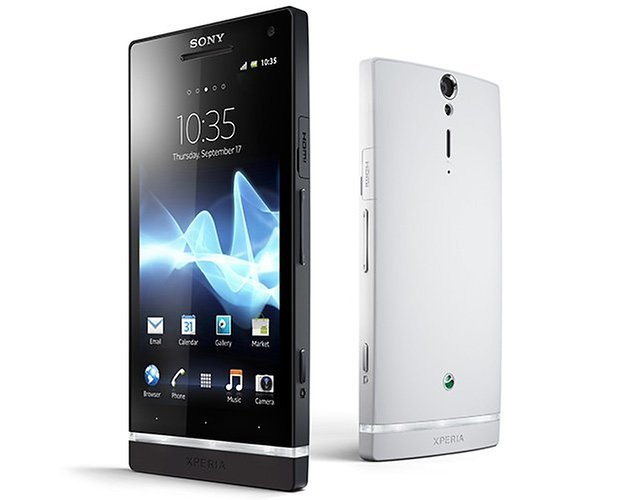 Sony Xperia S black white