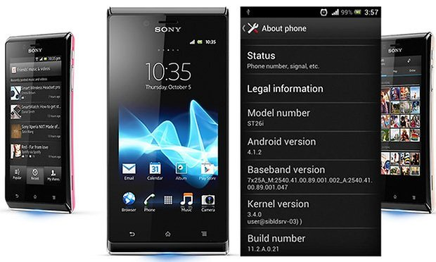 Xperia J Jelly Bean