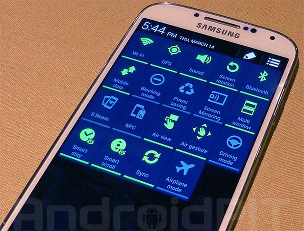 samsung galaxy s4 new quick settings