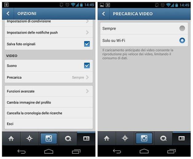 Instagram audio off