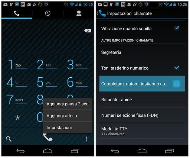 Tastierino automatico android 4 3