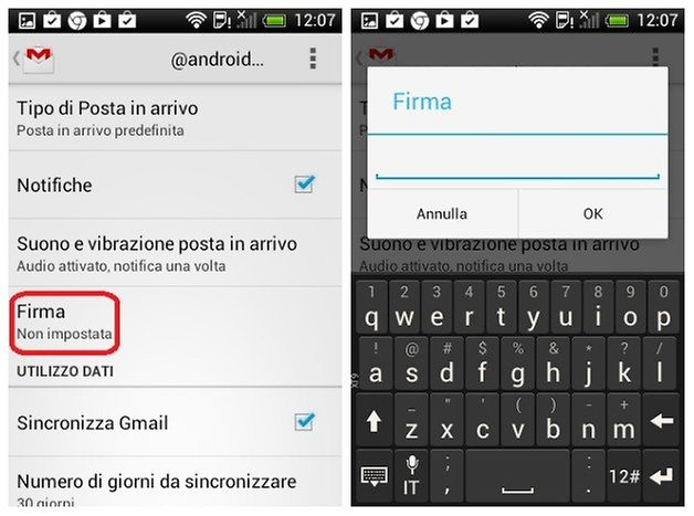 firma gmail android