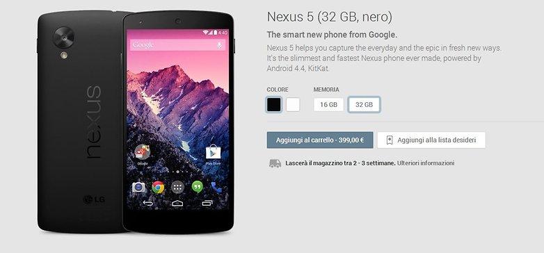google play nexus 5