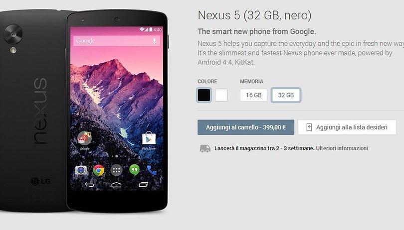Acquisto del Nexus 5 - I problemi di stoccaggio appartengono al passato