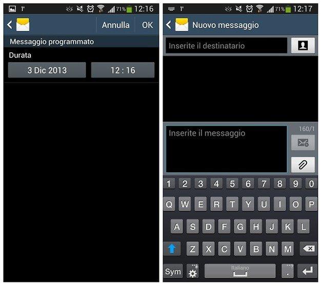 messaggi programmati samsung