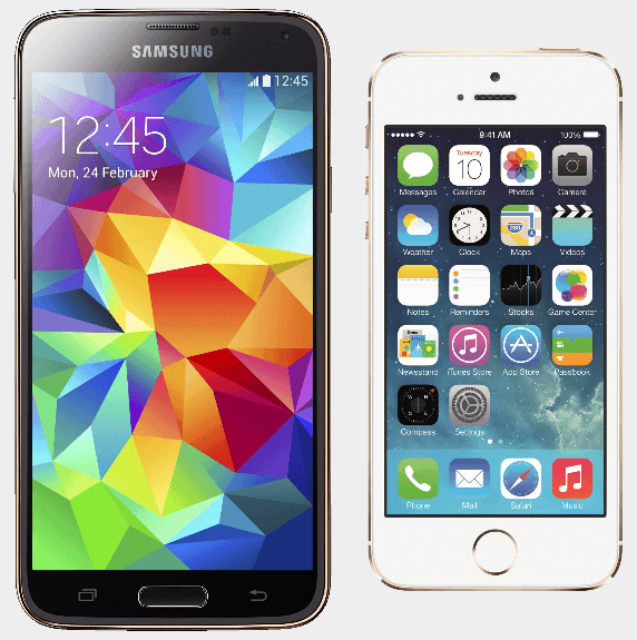 comparatif apple iphone 5s contre samsung galaxy s5 androidpit. Black Bedroom Furniture Sets. Home Design Ideas