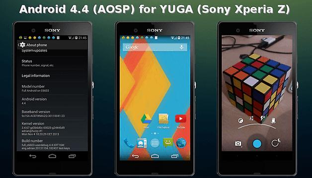 La ROM di Android Kitkat per lo Xperia Z