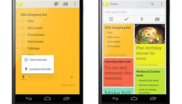 Google Keep Syncs With Google Now